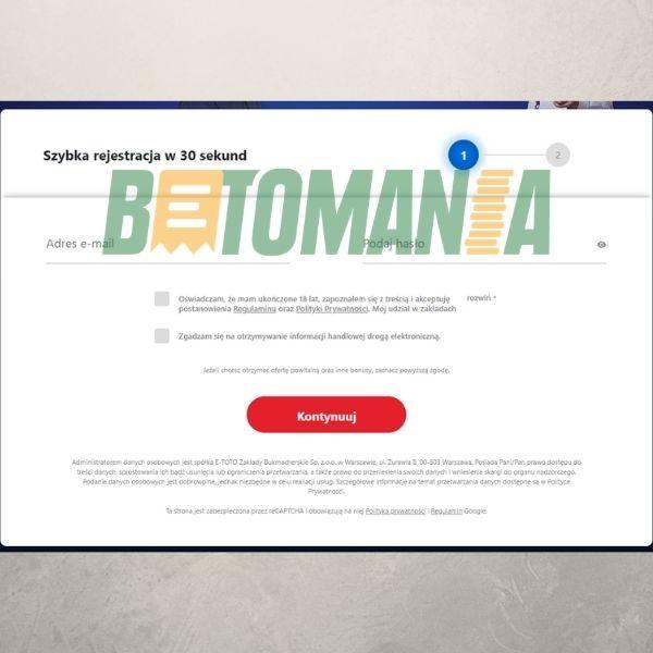 eTOTO – rejestracja